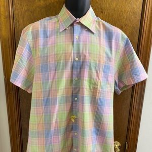 Peter Millar Plaid Gingham Shirt Size Medium
